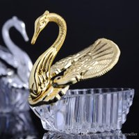 Wholesale acrylic wedding favors for sale - Group buy Wedding Favors Holders Gift Boxes European Styles Acrylic Swan Jewely Candy Box Sweet Wedding Gift Box Supplies