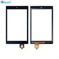 touch-digitalisierer für tablette großhandel-Netcosy Touchscreen Digitizer Glaslinse Panel Sensor für Amazon Kindle Fire HD8 2016 Tablette Touch Panel für Amazon HD 8