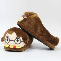 ingrosso nuove pantofole per l'inverno-Pantofole Harry Potter Pantofole invernali Peluche Coppia creativa Sandali piatti unisex Scarpe per la casa Cartone animato Scarpe termiche per interni nuovo GGA2569