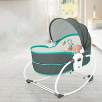 Wholesale recliner beds online - Baby electric cradle vibration crib in the bed rocking chair automatic comfort chair shaker can sit on the recliner basket