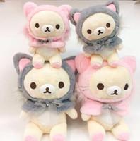 Wholesale rilakkuma stuff toy resale online - Cute Sakura Pink Bear Plush toy Rilakkuma shapeshift cat doll Soft Stuffed Animals Doll Kids Girls Birthday Gifts CM CMMX190925