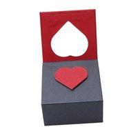 caixas de decoração casamento venda por atacado-1 Pc Requintado Caixa De Presente De Jóias Caixão Organizador Para Anel De Casamento Pulseira Pulseira Pingente de Colar Decoração Caixa De Embalagem