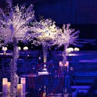 merkez kristaller toptan satış-Yeni moda 90 cm 35 inç Kristal Düğün masa Akrilik Ağacı Centerpiece Düğün Süslemeleri Parti Süslemeleri Olay Dekor