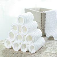 pañal transpirable al por mayor-Nuevo uso reutilizable y fácil de usar, suave y transpirable. Pañal de tela moderno. Liner de pañales inserta 3 capas de pañal más barato 1pcs