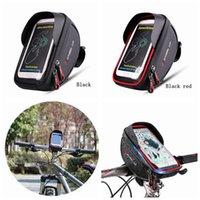трубка велосипедного руля оптовых-Водонепроницаемая передняя сумка для велосипеда MTB Road Bike Top Tube Frame Руль с сенсорным экраном Сумка 6 дюймов Велоспорт сумка телефон сумка ZZA194