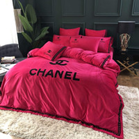 Wholesale quilt covers single beds resale online - Bedding Set Washed Cotton Bed Four piece Quilt Cover Sheet Student Single Three piece Bedding Set