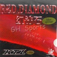 синяя губчатая резина оптовых-Версия Blue Sponge (Professional) KTL RED DIAMOND Красный Pips-In с резиновой губкой для настольного тенниса