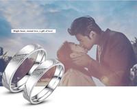 verlobungshochzeit ringe größe großhandel-Liebhaber können die Größe des Rings anpassen Liebe Hochzeit Liebhaber Öffnen Ring Party Engagement Charm Schmuck Ich liebe dich