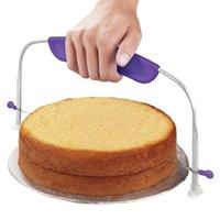pasta dilimleyici tesviye toptan satış-Paslanmaz Çelik Ayarlanabilir Kek Kesici Ara Katman Kek Dilimleme Leveler Ev Kek Araçları Pişirme ve Pasta Araçları