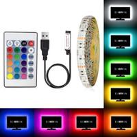 chip chip chip ic venda por atacado-SMD2835 DC5V RGB TV Led Fita de Luz USB À Prova D 'Água Pode Ser Escurecido Fita Corda Luzes Fita Flexível para Home TV Backlight