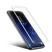 Wholesale suit protectors resale online - Ultra thin PET Screen Protector Suit for Samsung Galaxy S8 Plus D Heat bending Membrane mm