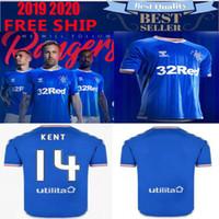 équipement de maison achat en gros de-2019 2020 New Rangers FC Home Maillots de Football Bleus 19 20 kits Équipement de Glasgow Maillot de football Uniformes en tête du tee-shirt Maillot
