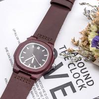 лучшие белые часы для женщин оптовых-Fashion Unisex Wood Quartz Watches White Analog Wristwatches Top  Wood Watch Best Gift for Men Women