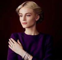 reine 925 sterling silber armbänder großhandel-Van Cleef Stil Volldiamant Armband alle eingelegten Ganzkörperdiamanten 925 Sterling Silber jeder Winkel funkelt das reine Silber Armband Gorgeou