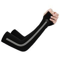 Wholesale uv protection cycling arm warmers for sale - Group buy summer cycling sleeves Men Women Breathable Ice Silk Sunscreen Cuff Arm Sleeves Outdoor Sports Running Arm Warmer UV Protection