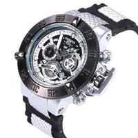 функциональный бренд оптовых-Новое поступление швейцарский бренд INVICTA LOGO вращающийся циферблат спорт на открытом воздухе мужские силиконовые часы кварцевые часы все функции работы
