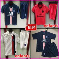 neue kinder fußball kits großhandel-Top kids kit fußball trikot maillot psg kids 2019 2020 fußball trikots 19 20 Maillot de foot psg kids MBAPPE fußball trikot