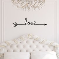muraux de vinyle pour le salon achat en gros de-LOVE Art sticker mural style nordique bricolage amour flèche autocollants en vinyle salon décoration de chambre 2019 (58 * 14)
