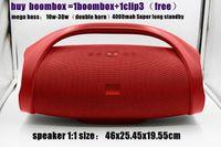 ücretsiz boombox toptan satış-Mükemmel ses Büyük boombox bluetooth hoparlör 2 * 30 w süper boynuz Derin bas kablosuz hoparlör 4000 mah satın boombox satın clip3 ücretsiz araba
