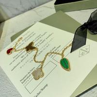 ouro da borboleta do jade venda por atacado-Designer de Pulseira Edição Limitada Borboleta Amor Trevo Pulseira 2019 Acessórios de Moda de Luxo 18k Pulseira De Pedras Preciosas de Ouro Design Exclusivo Re