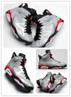 bunny kutuları toptan satış-6 JSP Yansıtıcı Bugs Bunny erkek basketbol ayakkabı 3 M 6 s Yansıtıcı Gümüş spor ayakkabı kutuları ücretsiz shippment Ile 2019 Kızılötesi sneakers