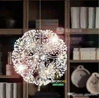 led kolye ışık k9 toptan satış-Droplight 47 CM Avrupa Lüks Yaratıcı Karahindiba LED Kristal Avizeler Modern Minimalist K9 Kristal Kolye Işık Salon Işıkları