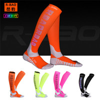 Wholesale pro cycling for sale - Group buy 1 Pair Free Pro Running Compress Reflective Function Socks Night Sports Cycling Running Camping High Quality Knee High Socks