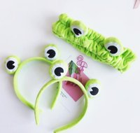 Wholesale frog hairs resale online - New arrival Women s Frog hairband girl s cute headwear hair accessories for party