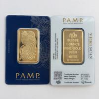 hochwertiges metallhaus großhandel-Hot 1 unze Goldbarren PAMP Suisse Lady Fortuna Veriscan Hohe Qualität Vergoldet Bar Werbegeschenke Metall Handwerk Home Decorati