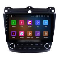 androide auto dvd honda großhandel-10,1 Zoll Android 9,0 Touchscreen-Autoradio für 2003-2007 Honda Accord 7 mit Bluetooth GPS Navigation 3G WiFi Unterstützung OBD2 1080P Auto-DVD