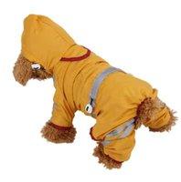 hoodies do animal de estimação do gato venda por atacado-Horrisa impermeável roupas para cães moda pet capa de chuva cão de estimação filhote de cachorro cat hoodie casaco de chuva pequeno cão jaqueta roupas pet suprimentos hot
