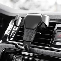 cep telefonları için araba beşiği toptan satış-Akıllı Araç Telefonu Tutucu Yerçekimi Evrensel Cep Araç Telefonu Standı Tutucu Hava Firar Dağı Cradle Telefon Tutucu Klip Iphone GPS