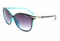calidad aaa gafas de sol al por mayor-1 unids moda de alta calidad gafas de sol redondas para mujer del diseñador de las mujeres gafas de sol de metal de oro negro oscuro 52mm lentes de vidrio mejor negro caso