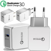 Wholesale 12v charger android for sale – best EU US QC V A V A V A Quick Charging Wall charger Power Adapter For iphone x samsung htc android phone pc mp3