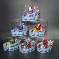 Wholesale kids power cars resale online - The Avengers Figure Kids Toys Iron Man Thor Hulk Captain America Spider Man Kart Pull Back Cars Friction Powered