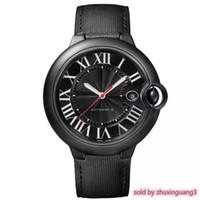 наручные часы мужские оптовых-Ограниченное количество роскошных автомобилей Мужские часы W69012z4 серии Full Black Face Red Point Календарь Циферблат Автоматическое движение F1 Часы Мужские наручные часы