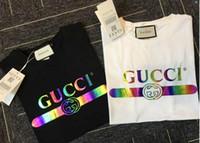 moda kadınlar yaz spor kıyafetleri toptan satış-277 2019 Yeni Moda erkekler KADIN T-shirt Marka Giyim Mektup Baskı Erkekler T Gömlek Yaz Spor En Tees Sokak giyim nedensel Erkek Tshirt.