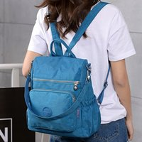 koreanische modische rucksäcke großhandel-Rucksack-Tasche für Frauen Wasserdichter Rucksack Modischer Rucksack aus Nylon Korean School Backpack