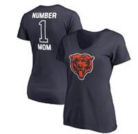 regalos chicago al por mayor-Las mujeres de Chicago Mothers Day Bears Pro Line Royal # 1 mamá con cuello en V camiseta regalo para la madre envío gratis