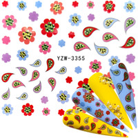 2020 1 Sheet Optional Water Decal Nail Art Water Transfer Gothic Blooming Flower Sticker Stamping For Nails Art Stamp