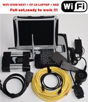 ordinateur portable de diagnostic bmw icom ista achat en gros de-V07.2019 Nouvelle version Wifi Icom Next pour BMW Diagnostic de réparation Auto avec le logiciel sur ISTA-P et ISTA-D Connexion de l'ordinateur portable CF19