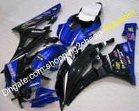 yamaha yzf r6 blau großhandel-06 07 YZF R6 Beliebte Verkleidungsteile für Yamaha YZFR6 2006 2007 YZF-R6 YZF600 Schwarz Blau Körperarbeit ABS Verkleidung Fit (Spritzgießen)