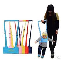 caminhante do bebê que aprende o passeio venda por atacado-Bebê Walker, Baby Harness Assistant Criança Leash para Crianças Aprender Passeio do bebê Belt Criança EEA606-2 Segurança