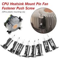 вентиляторы кулеров процессора оптовых-10шт (5 пар) Пластиковый монтажный зажим для процессорных кулеров 1155 775 Крепление радиатора процессора Штифт Вентилятор Крепеж нажимной винт