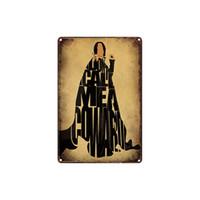pinturas mágicas venda por atacado-Clássico retro vintage harry potter escola mágica a taça de fogo Tin Sign ao ar livre Arte Da Parede decoração Bar Pinturas De Metal