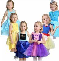 tabliers robes achat en gros de-Filles princesse tablier costume costume fête habiller cosplay tenue robe de noël pour bébés filles Tutu tablier halloween costume KKA6858