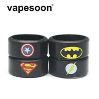 ingrosso bande di gomma di batman-DHL Fast Shipping Batman Superman Silicone antiscivolo Vape Band Anello Rubber Band per e-sigaretta 20-22 MM atomizzatore / Mods meccanici
