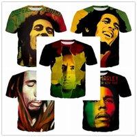 bob rápida al por mayor-Nueva Moda Hombre / Mujer Reggae Star Bob Marley Impresión 3D Unisex Camiseta Casual Estilo de Verano Camisetas Divertidas Hip Hop Tops de secado rápido Ropa