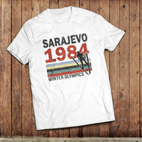 Wholesale olympic games online - Sarajevo T Shirt winter Olympic games retro sport tee vintage sport Funny Unisex Casual Tshirt top