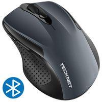 tablette portable ajustable achat en gros de-TeckNet Bluetooth Mouse Souris sans fil portable réglable 2600DPI 24 mois avec autonomie de la batterie Souris sans fil pour PC / Tablette / Ordinateur portable